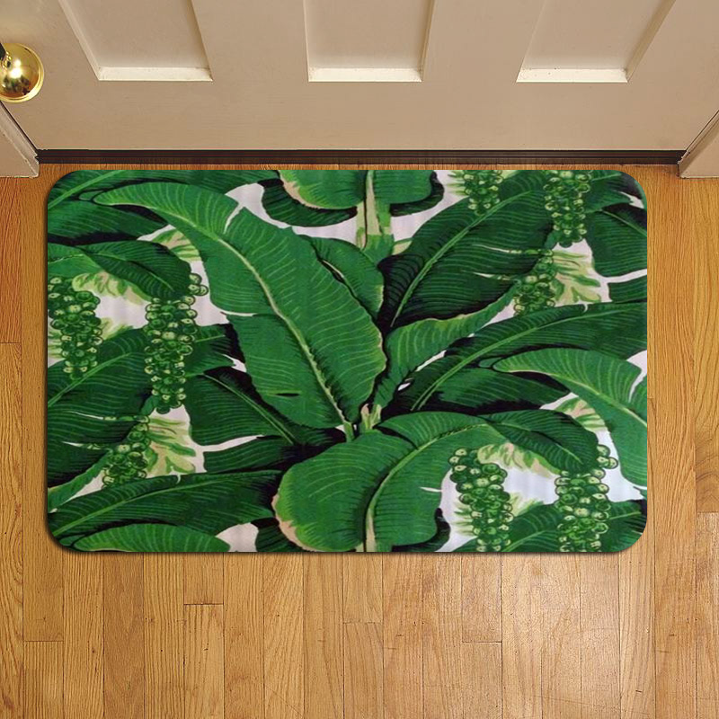 Banana Leaf Tropical Palm 008 Door Mat