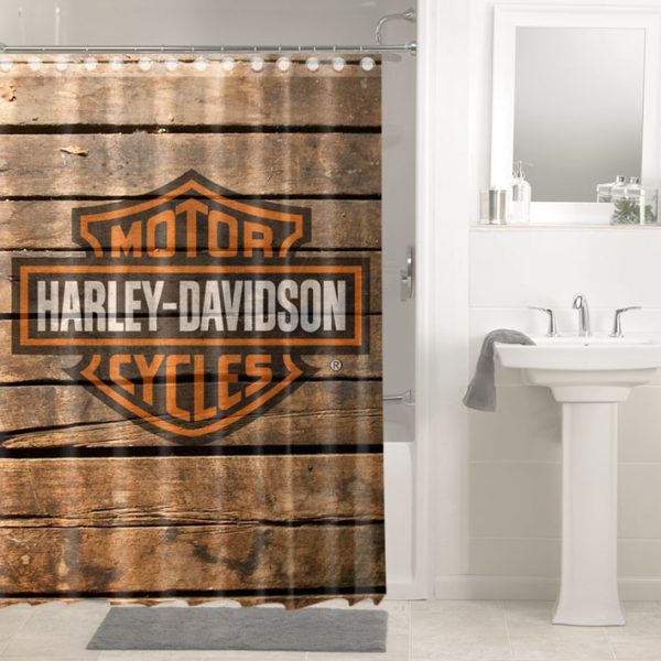 Prime Harley Davidson Motor Cycles Logo 3629 Shower Curtain Waterproof Bathroom Decor Interior Design Ideas Clesiryabchikinfo