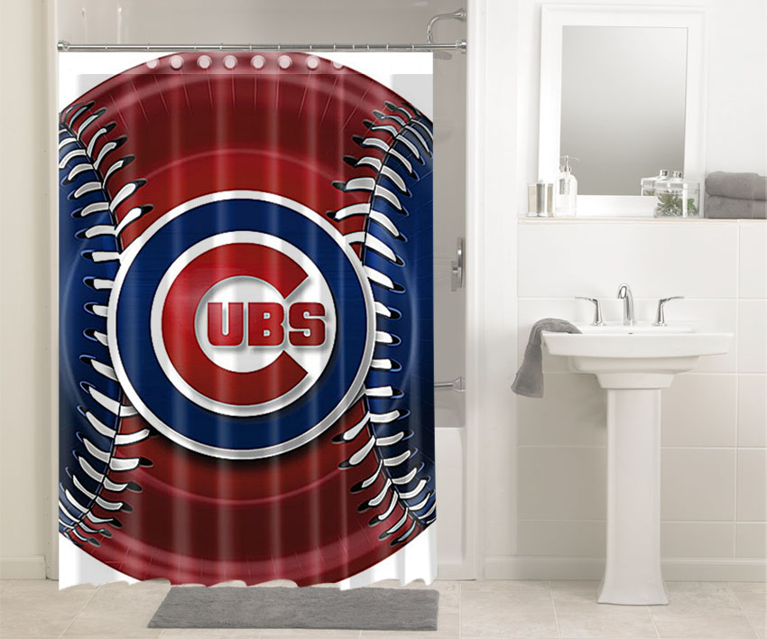 Chicago Cubs Mlb Baseball Teams 2621 Shower Curtain Waterproof