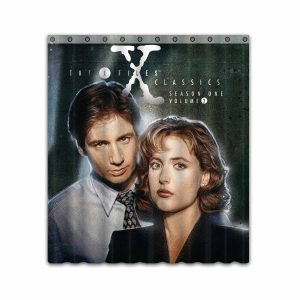 The X-Files TV Show Series #4661 Shower Curtain Waterproof Bathroom