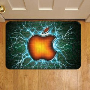 Apple Inc Logo Rug Doormat Foot Door Mat Steps