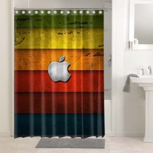 Apple Colorful #4698 Shower Curtain Waterproof Bathroom Decoration