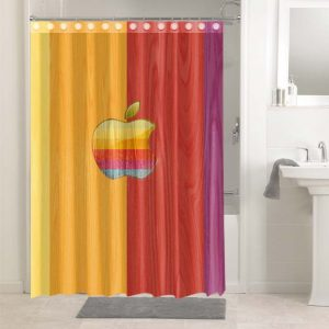 Apple Colorful Stripes #4699 Shower Curtain Bathroom Decoration