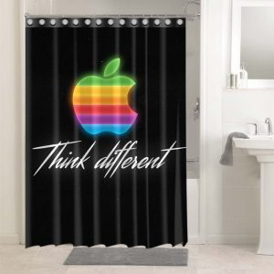 Apple Think Different #4687 Waterproof Shower Curtain Bathroom Decoration