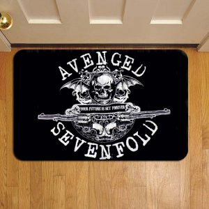 Avenged Sevenfold Door Mat Foot Rug Doormat Steps