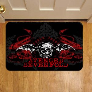 Avenged Sevenfold Rock Band Step Mat Doormat Foot Door Rug Mat