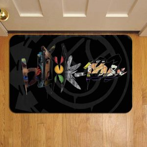 Blink 182 Rock Band Rug Doormat Foot Door Mat Steps