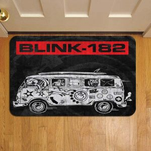 Blink 182 Rock Band Foot Mat Doormat Rug Door Steps