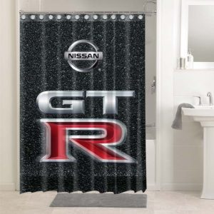 Nissan Shower Curtains Bathroom Decoration Waterproof Polyester Fabric.