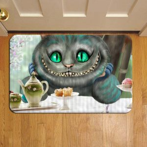 Cheshire Cat Alice In Wonderland Step Mat Doormat Foot Door Rug Mat