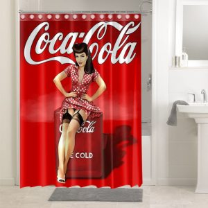Coca Cola Poster #4719 Shower Curtain Bathroom Decoration