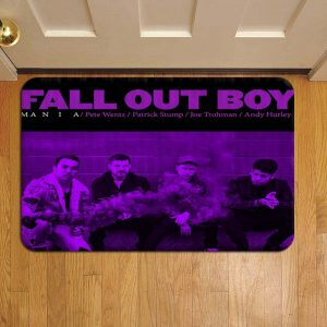 Fall Out Boy Rock Band Door Mat Foot Rug Doormat Steps