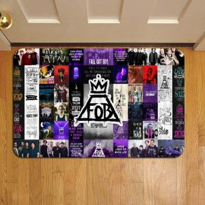 Fall Out Boy Rock Band Rug Doormat Foot Door Mat Steps