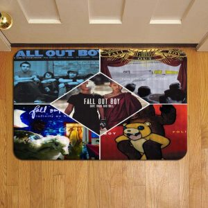 Fall Out Boy Door Mat Foot Rug Doormat Steps