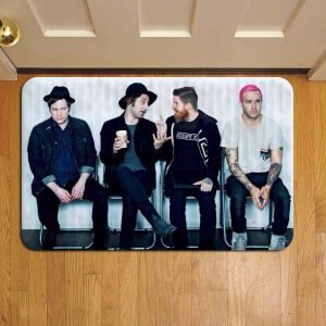 Fall Out Boy Band Rug Doormat Foot Door Mat Steps