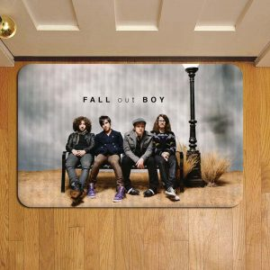 Fall Out Boy Rock Band Foot Mat Doormat Rug Door Steps