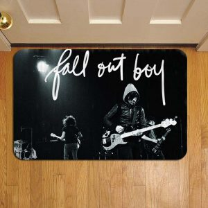 Fall Out Boy Rock Band Door Steps Foot Doormat Rug Mat