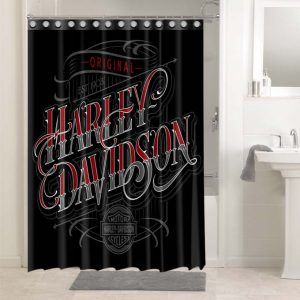 Harley Davidson Cycles #4751 Bathroom Curtain Shower Decoration
