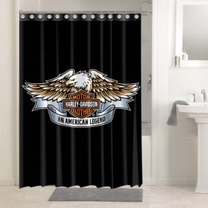 Harley Davidson #4760 Bathroom Shower Curtain Decor