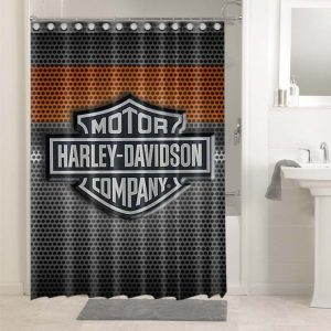 Harley Davidson Company #4761 Bathroom Curtain Shower Decoration