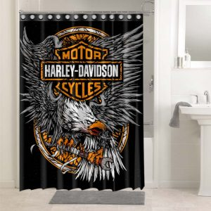 Harley Davidson Eagle #4752 Waterproof Shower Curtain Bathroom Decoration