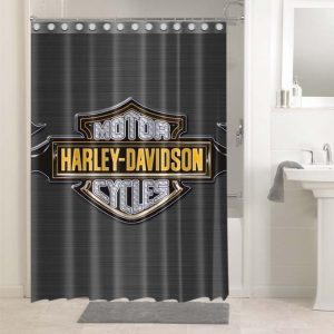 Harley Davidson Logo #4754 Shower Curtain Bathroom Decoration