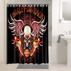 Harley Davidson #4757 Waterproof Shower Curtain Bathroom Decoration