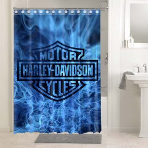 Harley Davidson #4758 Shower Curtain Waterproof Bathroom Decoration