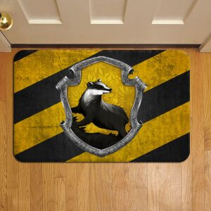 Hogwarts Hufflepuff Crest Harry Potter Doormat Foot Rug Door Mat Steps