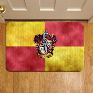 Hogwarts Gryffindor Crest Harry Potter Door Steps Foot Doormat Rug Mat