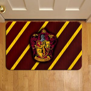 Hogwarts Gryffindor Crest Harry Potter Step Mat Doormat Foot Door Rug Mat