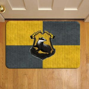 Hogwarts Hufflepuff House Harry Potter Door Mat Foot Rug Doormat Steps