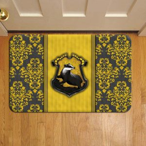 Hogwarts Hufflepuff House Harry Potter Rug Doormat Foot Door Mat Steps