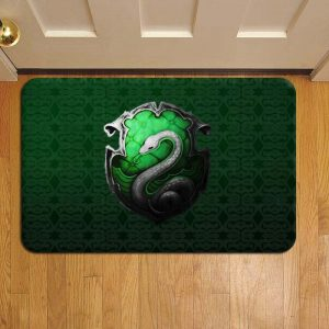 Hogwarts Slytherin House Harry Potter Doormat Foot Rug Door Mat Steps