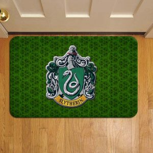 Hogwarts Slytherin House Harry Potter Rug Doormat Foot Door Mat Steps