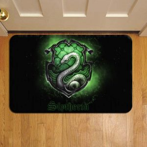 Hogwarts Slytherin House Harry Potter Foot Mat Doormat Rug Door Steps