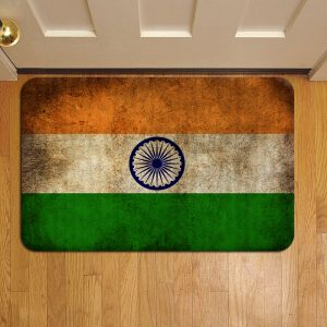 Indian Flag Doormat Foot Rug Door Mat Steps