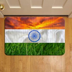 Indian Flag Door Mat Foot Rug Doormat Steps
