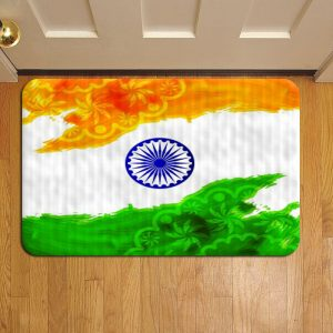 Indian Flag Rug Doormat Foot Door Mat Steps