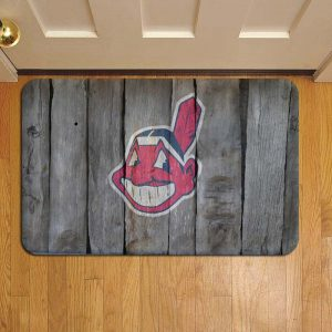 Cleveland Indians MLB Baseball Rug Doormat Foot Door Mat Steps