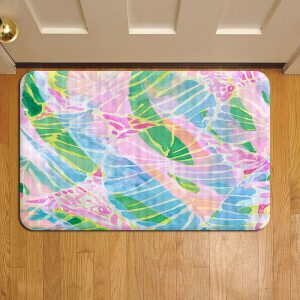Lilly Pulitzer Floral Doormat Foot Rug Door Mat Steps