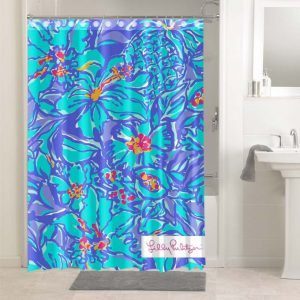 Lilly Pulitzer Mai Tai #4762 Waterproof Shower Curtain Bathroom Decoration