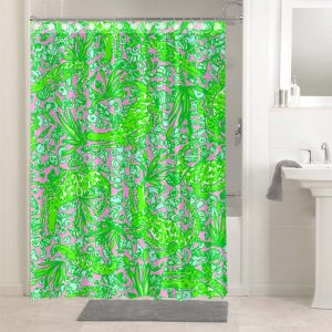 Lilly Pulitzer See Ya Later Alligator #4772 Waterproof Shower Curtain Bathroom Decoration