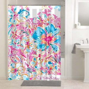 Lilly Pulitzer Resort Escape Floral #4774 Shower Curtain Bathroom Decoration