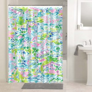 Lilly Pulitzer Honda Classic Cares #4777 Waterproof Shower Curtain Bathroom Decoration