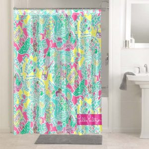 Lilly Pulitzer In The Beginning #4778 Shower Curtain Waterproof Bathroom Decoration