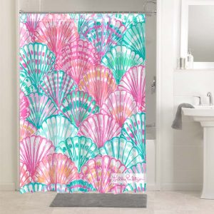 Lilly Pulitzer Oh Shello #4763 Shower Curtain Waterproof Bathroom Decoration