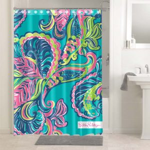 Lilly Pulitzer Toucan Play #4766 Bathroom Curtain Shower Decoration