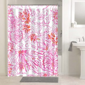 Lilly Pulitzer Get Spotted #4768 Shower Curtain Waterproof Bathroom Decoration
