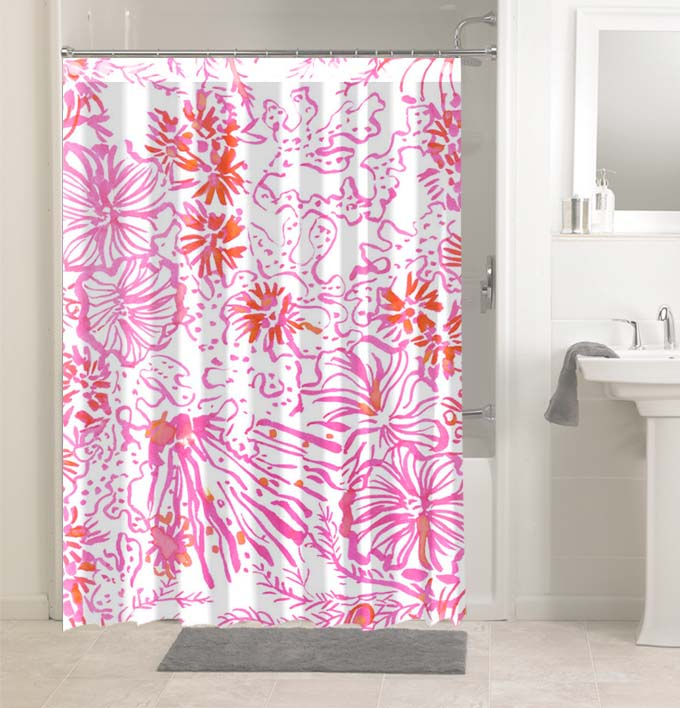 Lilly Pulitzer Get Spotted 4768 Shower, Lilly Pulitzer Bathroom